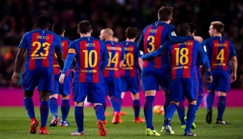 لاعبي فريق برشلونة الإسباني - أرشيفية