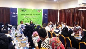 ورشة توعوية في عدن حول طرق مواجهة فيروس كورونا