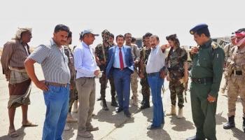 محافظ شبوة يتفقد سير العمل في مشروع إعادة تأهيل مطار عتق الدولي