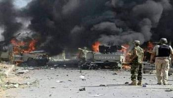 صورة من أحداث قصف الامارات للجيش أغسطس 2019