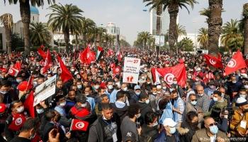 تونس.. حزب النهضة يحشد الآلاف من أنصاره وسط أزمة غير مسبوقة