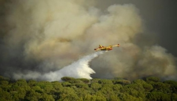 طائرة لمكافحة حريق في غونافرون جنوب شرق فرنسا
