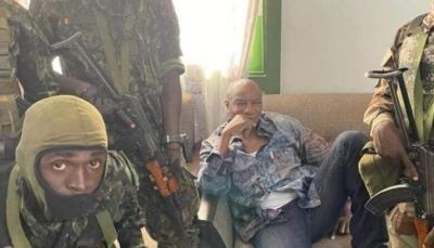 الرئيس الغيني بعد القبض عليه