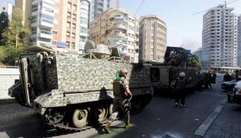 الجيش اللبناني ينتشر في شوارع بيروت بعد إطلاق النار