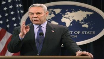 كولن باول، الذي قال إن العراق يمتلك أسلحة للدمار الشامل