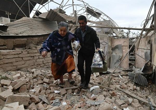 مقتل وإصابة 40 مدنيًا بغارة جوية أرمينية استهدفت مدينة أذربيجانية