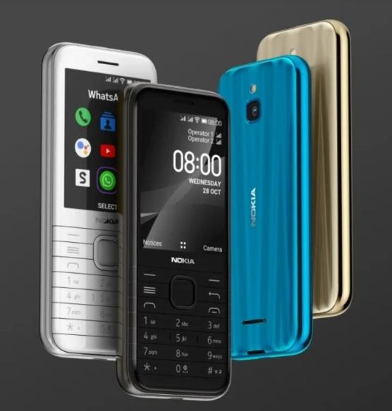 """""""نوكيا"""" تعلن عن هاتف كلاسيكي جديد يدعم الجيل الرابع """"8000 4G"""""""
