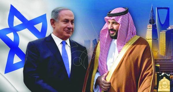 نتنياهو التقى بن سلمان في السعودية