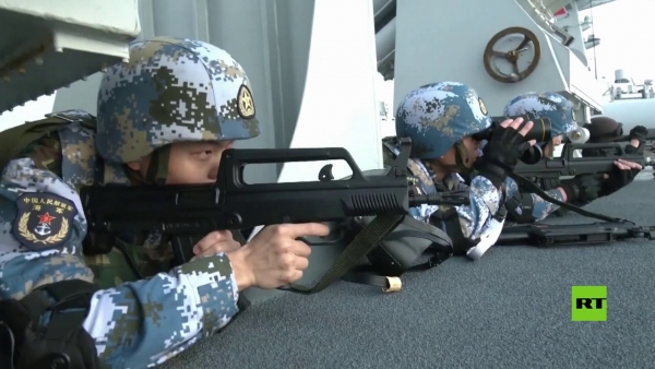 الجيش الصيني يجري تدريبات جوية وبحرية في خليج عدن