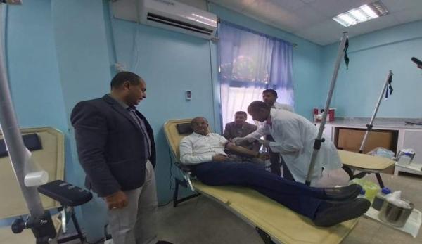 1458 متبرعا بالدم في وادي حضرموت خلال 2020