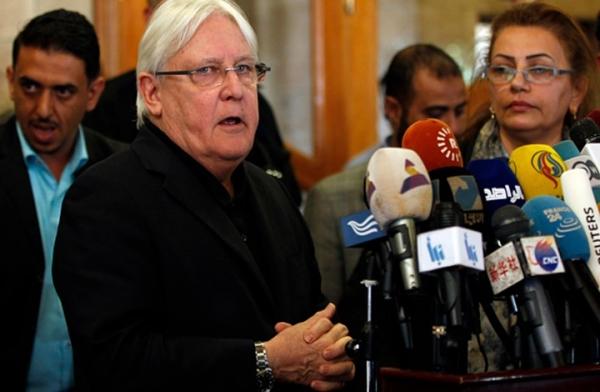 المبعوث الأممي  يصل الرياض لبحث وقف إطلاق النار باليمن