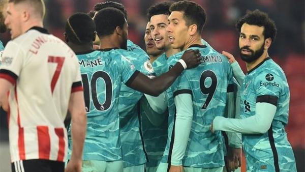 ليفربول يتغلب على شيفيلد والتعادل يحسم مواجهة تشيلسي ومانشستر يونايتد