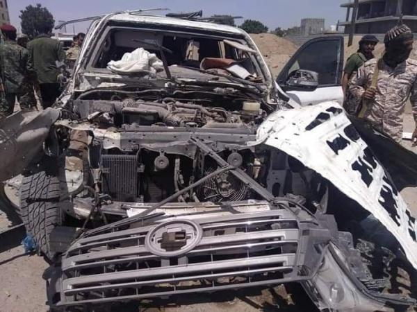 نجاة قائدين  ومقتل جنود في قوات الدعم والإسناد الموالية للإمارات  إثر انفجار بعدن