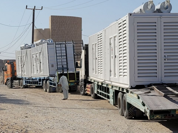 كهرباء المهرة تعلن وصول أربعة مولدات جديدة لمحطة الغيضة