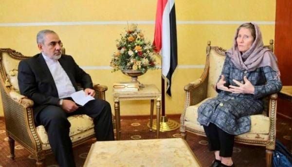 وزارة الخارجية تحتج على لقاء رئيسة بعثة الصليب الأحمر بسفير إيران لدى الحوثيين