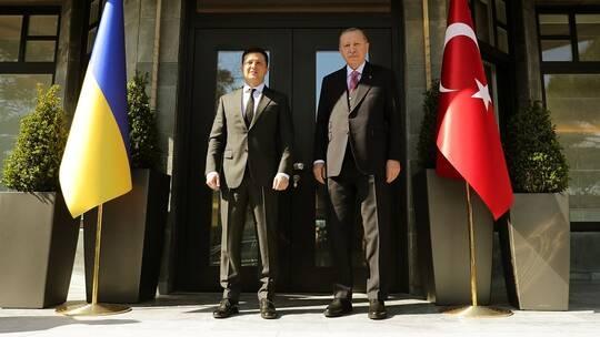 أردوغان مع نظيره الاوكراني