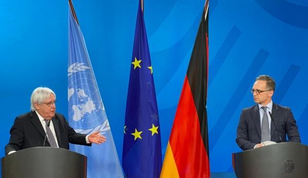 المؤتمر الصحفي للمبعوث الأممي ووزير الخارجية الألماني