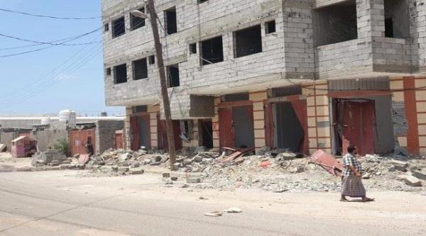 المبنى بعد اقتحامه - المصدر أونلاين