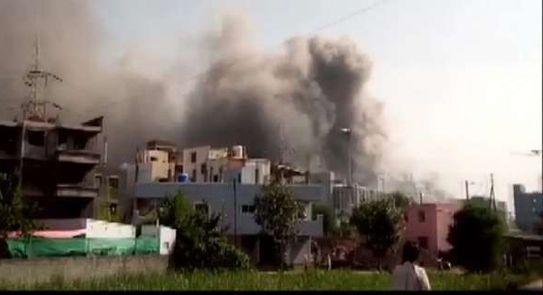 حريق في الهند