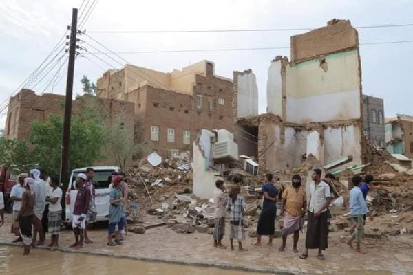 أضرار السيول في تريم - حضرموت