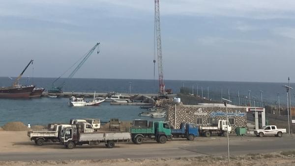 """السفينة الإماراتية """"دسترا"""" في ميناء سقطرى - إرشيف"""
