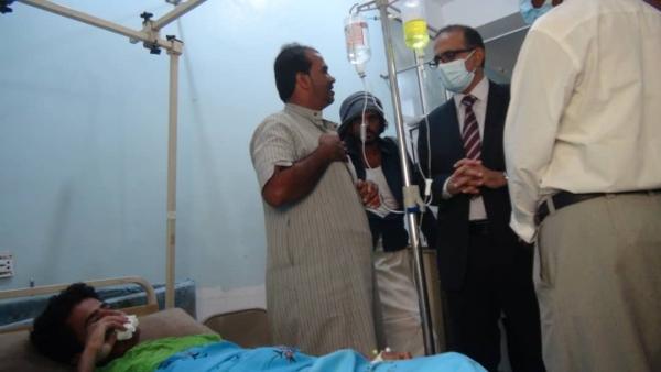 زيارة وزير الصحة لمستشفى الغيضة