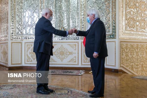 المبعوث الأممي لليمن مارتن غريفيث ووزير الخارجية الإيراني جواد ظريف @وكالة الأنباء الإيرانية