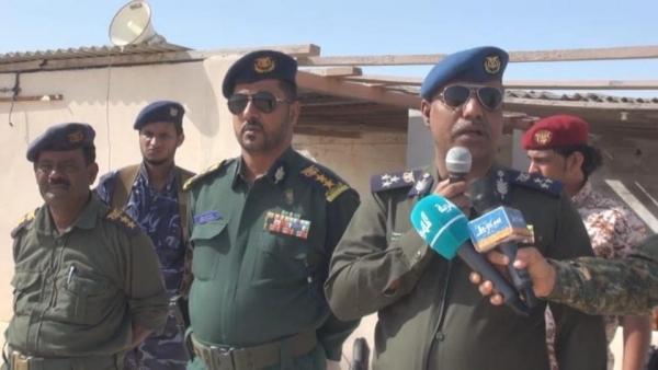 مدير أمن المهرة خلال تدشين حملة مكافحة المخدارات