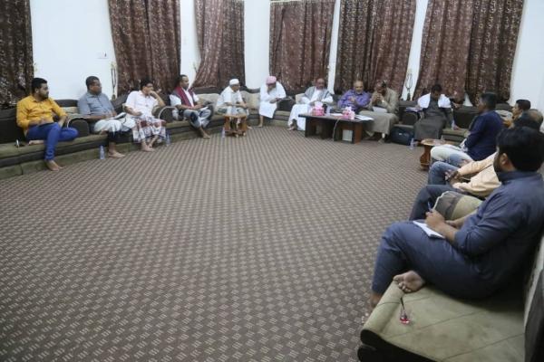 اجتماع اللجنة العامة لمواجهة آثار كارثة تريم، حضرموت