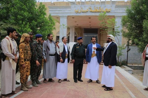 لقاء العرادة مع قيادات أمنية في المحافظة