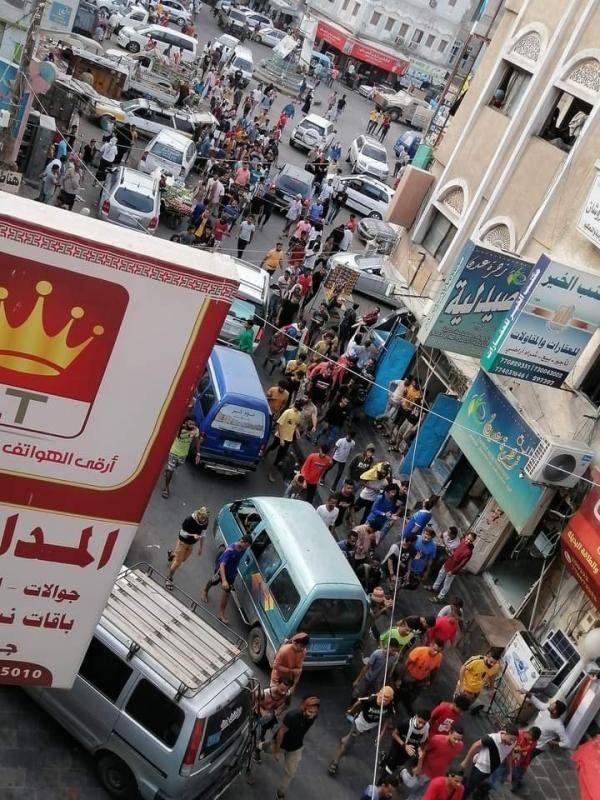جانب من الاحتجاجات في أحد شوارع المديرية