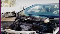 نجاة مدير أمن أبين من حادث مروري في مديرية المحفد