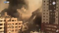 """إسرائيل تُدمّر برجا يضم مكتبا """"الجزيرة"""" وأسوشيتد برس بغزة"""