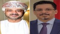 وزير الخارجية يبحث مع نظيره العماني سبل تعزيز العلاقات الثنائية